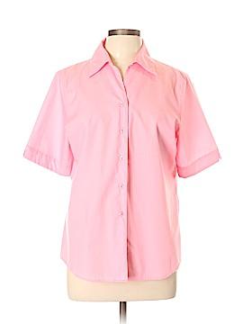 Foxcroft Short Sleeve Button-Down Shirt Size 14
