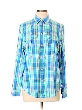 L-RL Lauren Active Ralph Lauren 3/4 Sleeve Button-Down Shirt Size L