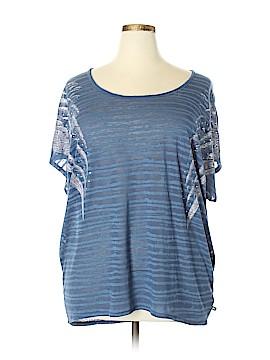 Rock & Republic Short Sleeve Blouse Size 2X (Plus)