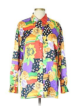 VERTIGO Long Sleeve Blouse Size L