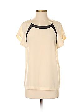 Diane von Furstenberg Short Sleeve Silk Top Size P