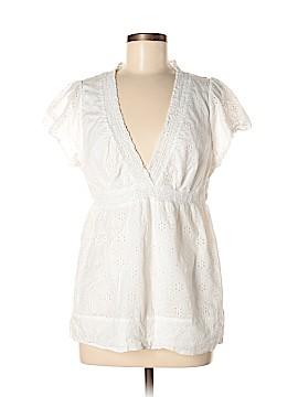 BCBGMAXAZRIA Short Sleeve Blouse Size L