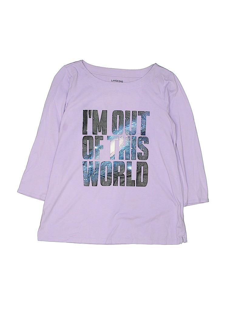 Lands' End Girls 3/4 Sleeve T-Shirt Size 14