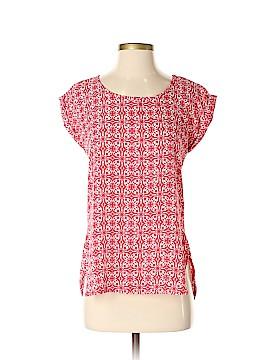 Pink Rose Short Sleeve Blouse Size XS
