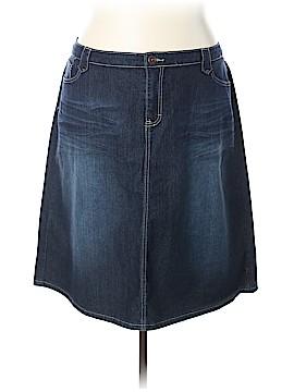 Cj Banks Denim Skirt Size 24W (Plus)
