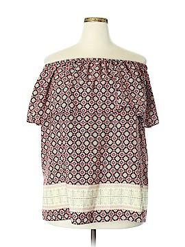 ING Short Sleeve Blouse Size 2X (Plus)