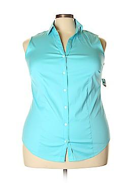 Charter Club Sleeveless Button-Down Shirt Size 16