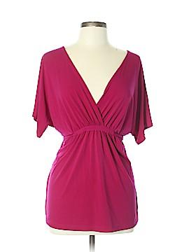 New York & Company Short Sleeve Blouse Size L
