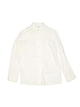 Papo d'Anjo Long Sleeve Button-Down Shirt Size 10