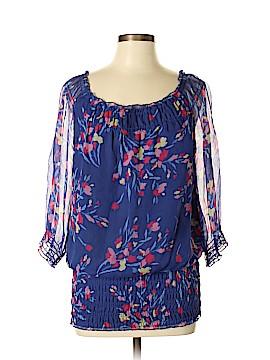 INC International Concepts 3/4 Sleeve Silk Top Size 8