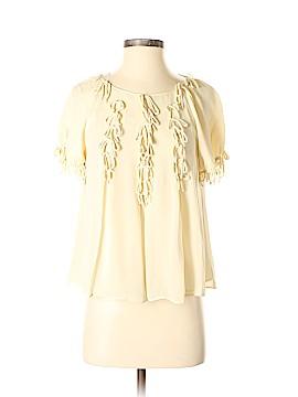 Leifsdottir Short Sleeve Silk Top Size 2