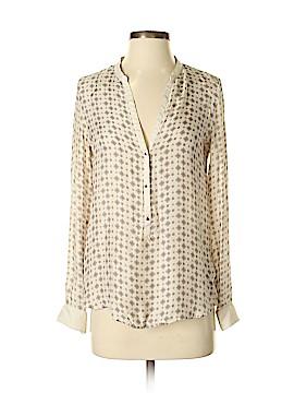 Zara Long Sleeve Silk Top Size XS