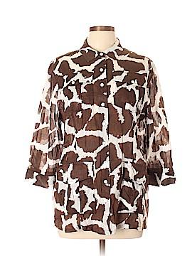 Liz Claiborne 3/4 Sleeve Button-Down Shirt Size XL