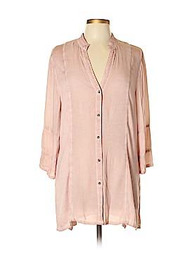 XCVI 3/4 Sleeve Button-Down Shirt Size L