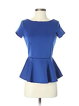 Bisou Bisou Short Sleeve Blouse Size XS