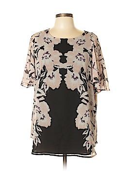 Calvin Klein Short Sleeve Blouse Size 0X (Plus)