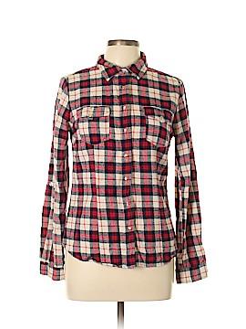 YMI Long Sleeve Button-Down Shirt Size L