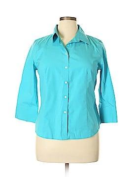 Talbots 3/4 Sleeve Button-Down Shirt Size 14 (Petite)