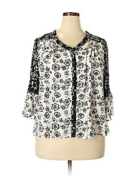 Kim Rogers 3/4 Sleeve Blouse Size XL (Petite)