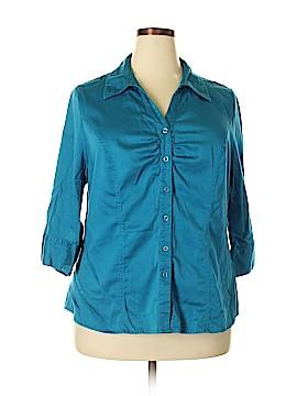 Lane Bryant 3/4 Sleeve Button-Down Shirt Size 18 - 20 Plus (Plus)