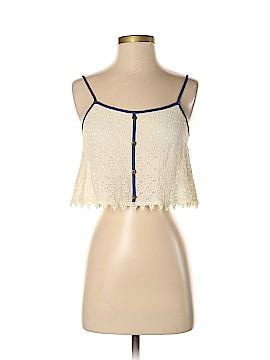 Paper Crane Sleeveless Button-Down Shirt Size XS