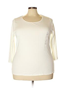 Charter Club 3/4 Sleeve T-Shirt Size 3X (Plus)