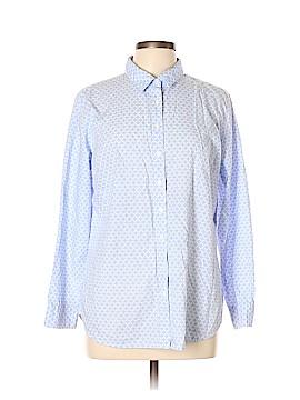 L.L.Bean Long Sleeve Button-Down Shirt Size L (Petite)