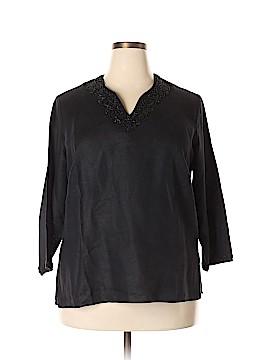 Laura Ashley 3/4 Sleeve Blouse Size 1X (Plus)