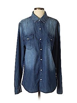 Car Mar Long Sleeve Button-Down Shirt Size M