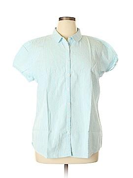 L.L.Bean Short Sleeve Button-Down Shirt Size XL