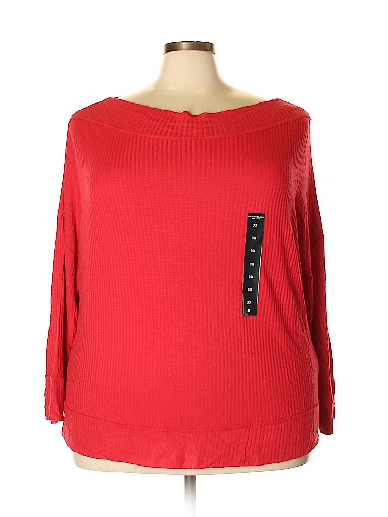 Lucky Brand Women Long Sleeve Top Size 3X (Plus)