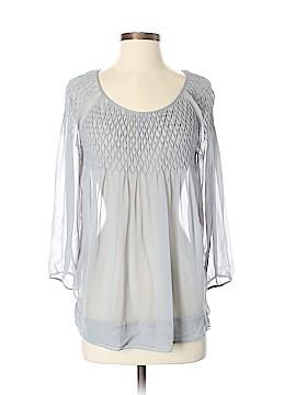 Massimo Dutti 3/4 Sleeve Silk Top Size 4