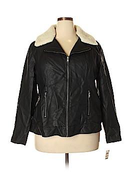 Style&Co Faux Leather Jacket Size 2X (Plus)