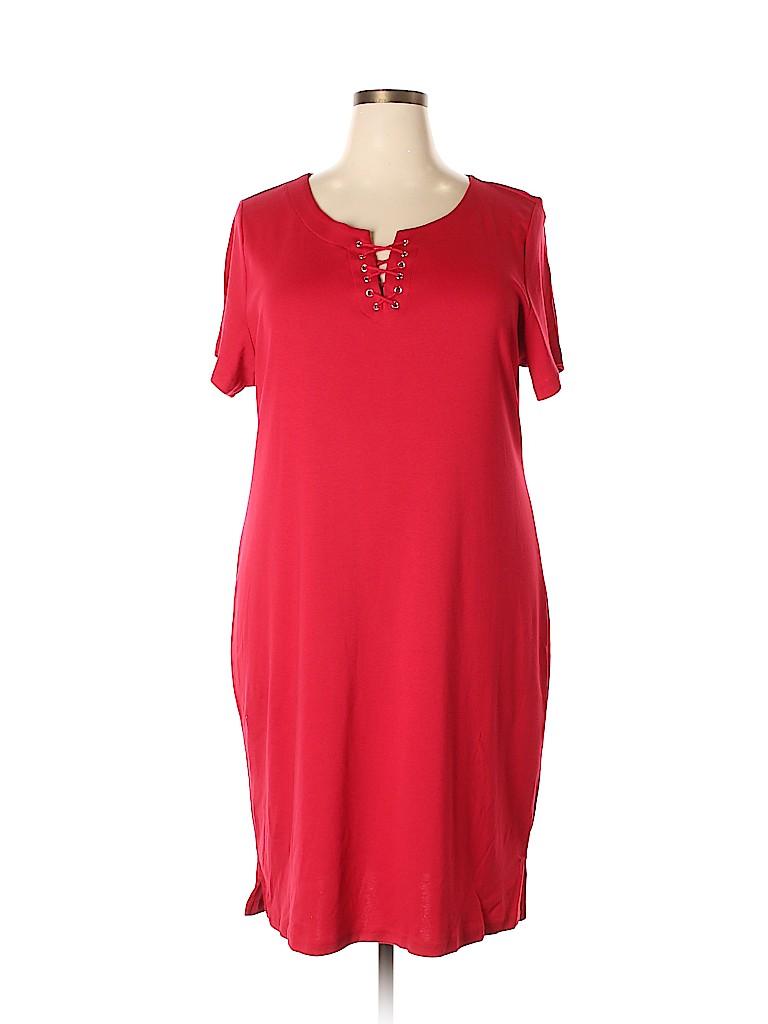 Karen Scott Women Casual Dress Size 2X (Plus)