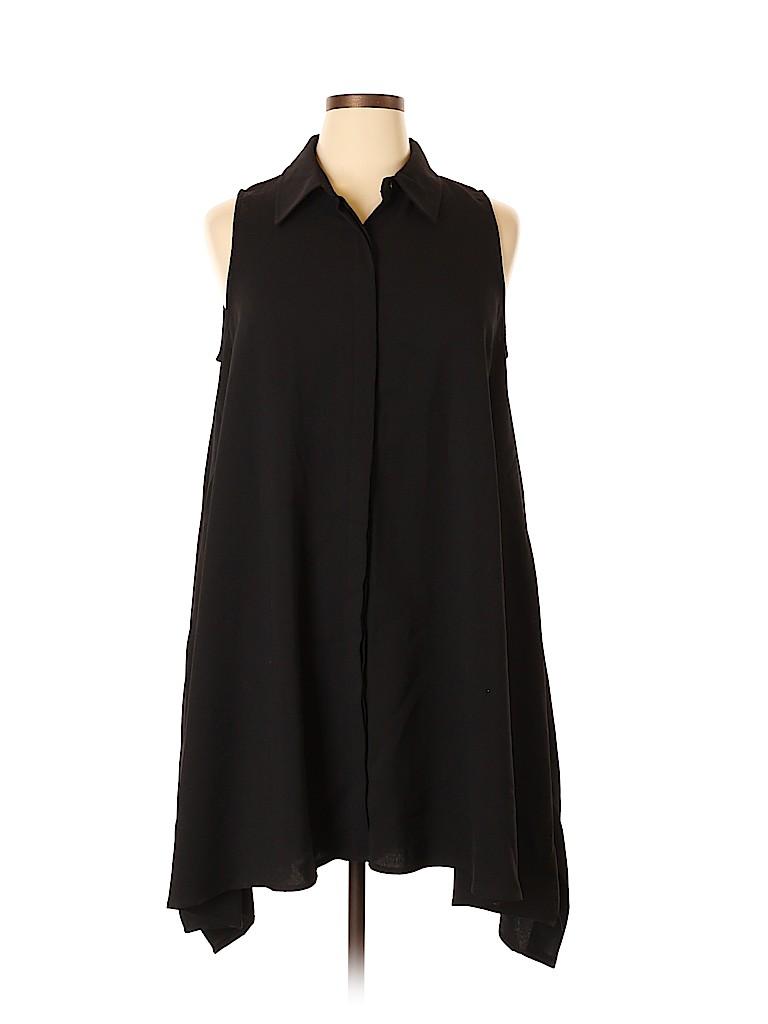Sharagano Solid Black Casual Dress Size 14 71 Off Thredup