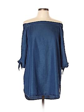 Aqua 3/4 Sleeve Blouse Size L