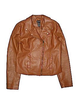 Wet Seal Faux Leather Jacket Size XL