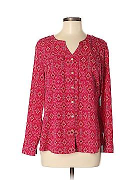 Croft & Barrow Long Sleeve Button-Down Shirt Size M (Petite)