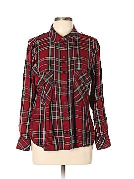Sanctuary Long Sleeve Button-Down Shirt Size XL (Petite)