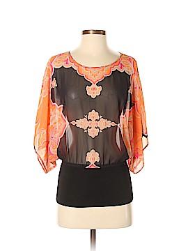 INC International Concepts Short Sleeve Blouse Size 6