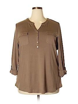 cbe2a903ad533 Karen Scott 3 4 Sleeve Button-Down Shirt Size 2X (Plus)