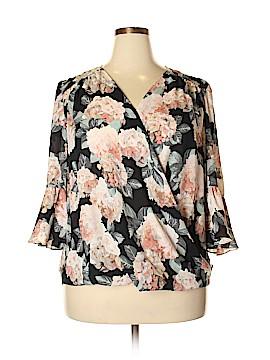 Inc Denim 3/4 Sleeve Blouse Size 1X (Plus)