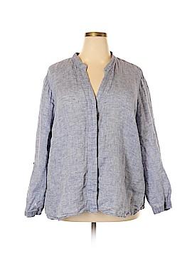 Nic + Zoe Long Sleeve Button-Down Shirt Size 3X (Plus)