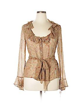Lauren by Ralph Lauren Long Sleeve Silk Top Size 14