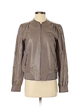 Halston Heritage Leather Jacket Size 4
