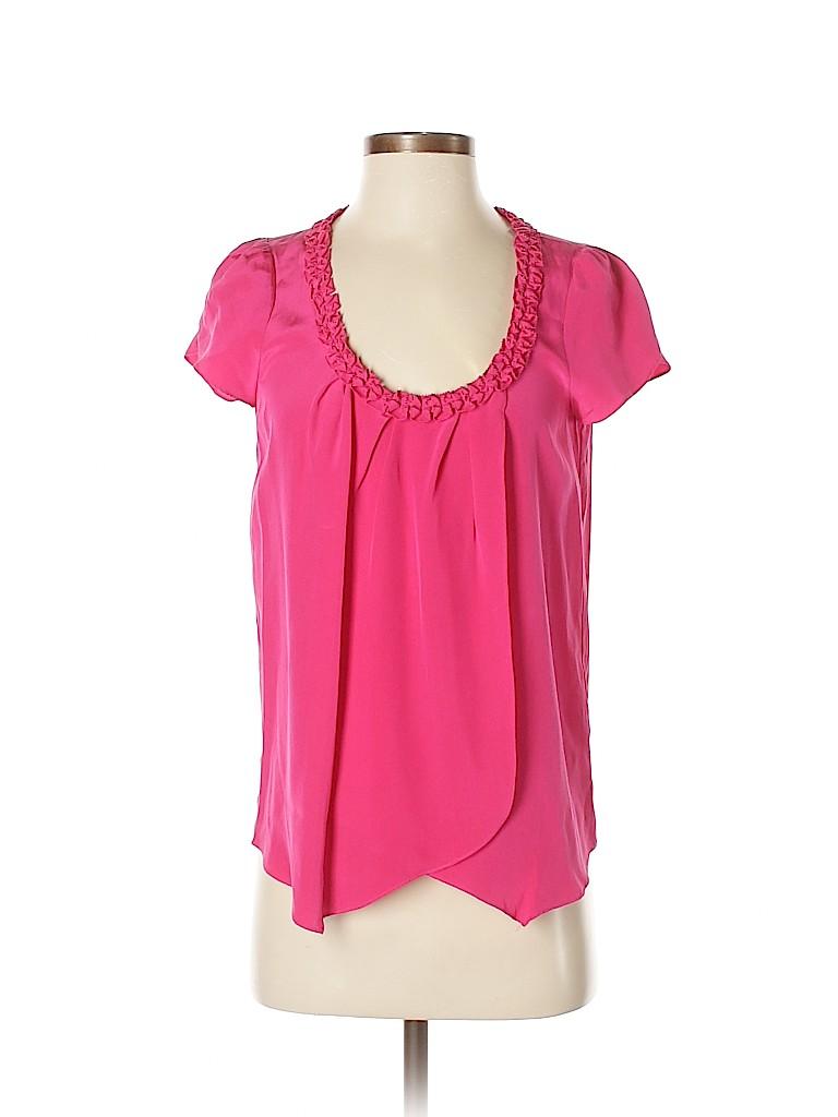 Madison Marcus Women Short Sleeve Silk Top Size S