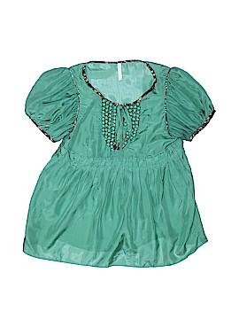 Bizz Short Sleeve Silk Top Size S