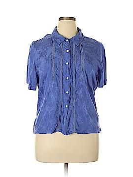 April Cornell Short Sleeve Button-Down Shirt Size L