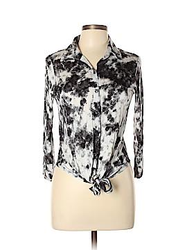 Ultra Flirt 3/4 Sleeve Button-Down Shirt Size L