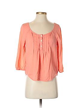 Arizona Jean Company 3/4 Sleeve Button-Down Shirt Size S